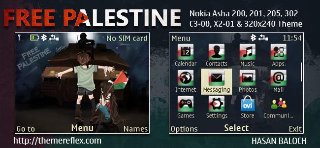 Download Tema Nokia gratis : Free Palestine