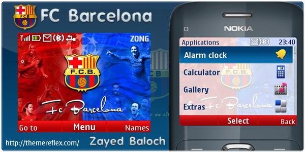 Download gratis Tema Barcelona Fc Nokia C3