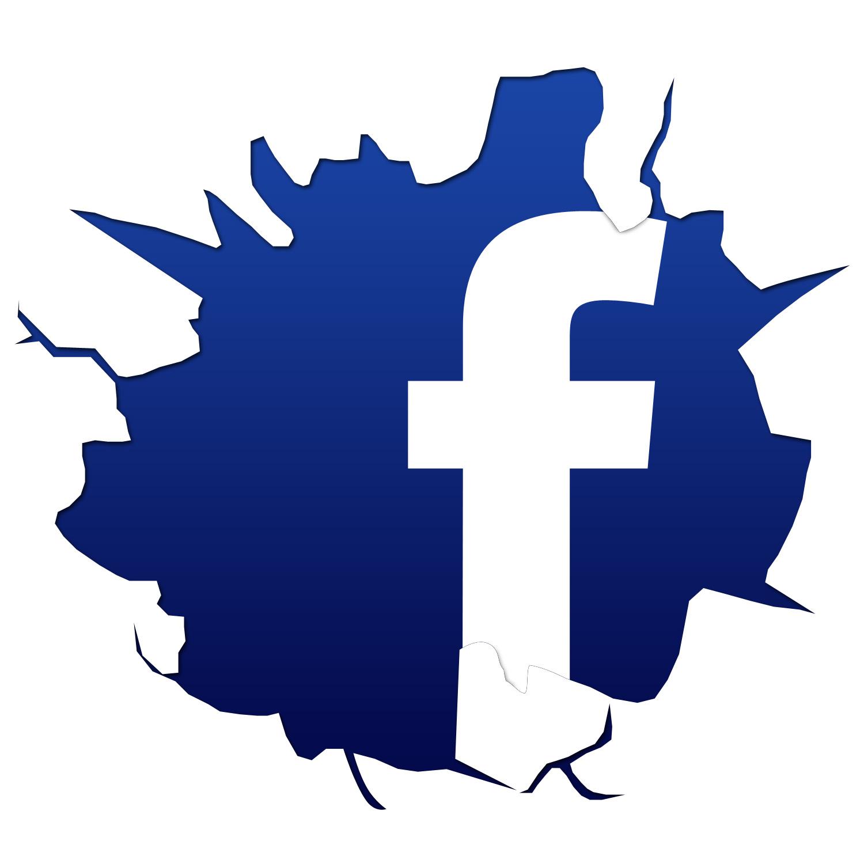 Cracked Facebook Logo