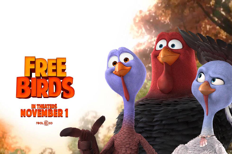 Download film animasi 3D Free bird subtitle Indonesia